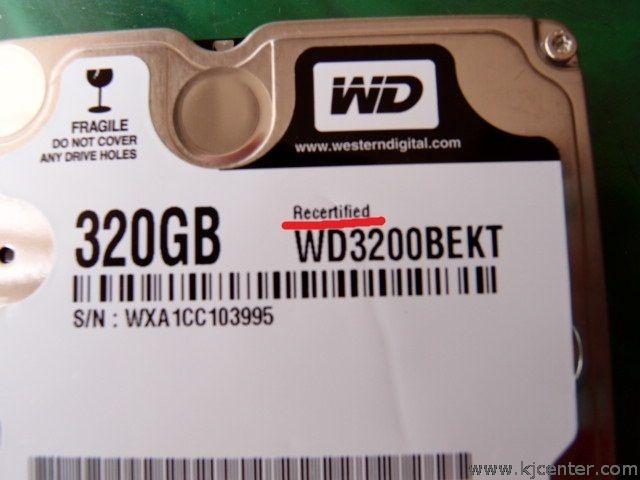 翻修过的硬盘有Refurbished或R字样
